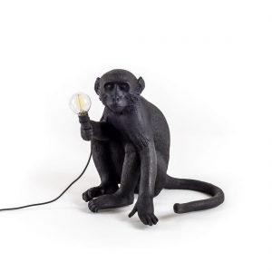 Luminaire-exterieur-Seletti-MONKEY-Lampe-a-poser-exterieur-Singe-assis-Noir-H32cm-19917-823